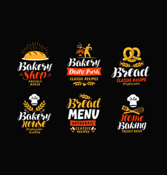 bakery bakehouse logo or label bread home vector image