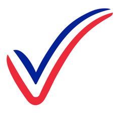 check mark france flag symbol elections voting vector image
