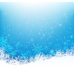 Christmas snowflake and starlight abstract vector image vector image