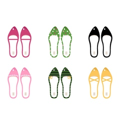collection of retro shoes vector image vector image