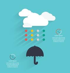 Creative cloud abstract design vector