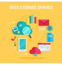 Data storage service banner vector