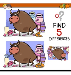 Differences activity for kids vector
