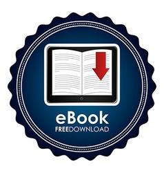 ebook icon vector image vector image