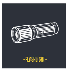 flashlight vector image