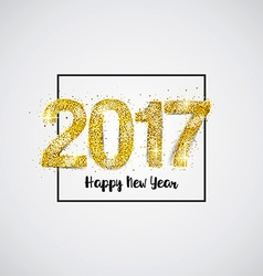 Gold 2017 on white background vector