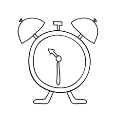 hand drawing with antique alarm clock vector image vector image