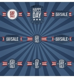 Independence Day Sale national Labels Collection vector image