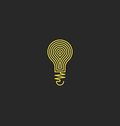 Lamp logo bulb yellow mockup creative emblem vector image