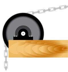 Mechanical block with a chain vector