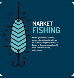 Modern of the best fishing in vector