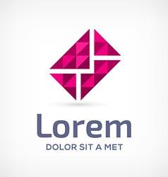 Mosaic e-mail envelope logo icon design template vector