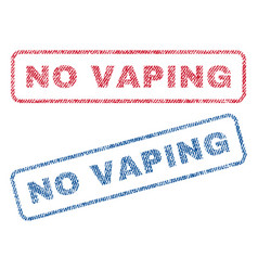 No vaping textile stamps vector