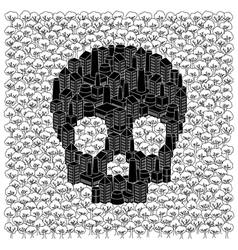 Save the forests concept skull vector