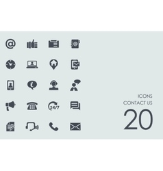 Set of contact us icons vector
