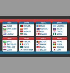soccer cup in russia group stage world tournament vector image