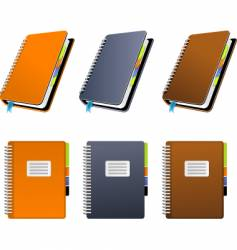 spiral notebook vector image vector image