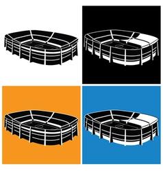 stadium symbol vector image vector image