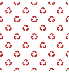Three circular arrows pattern cartoon style vector