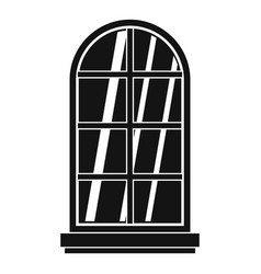 White window frame icon simple vector