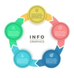 Five steps infographics design element vector image