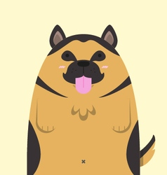 cute big fat German Shepherd dog vector image