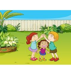 Kids playing vector image