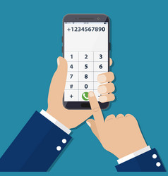 dial number concept vector image