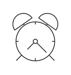 Alarm clock linear icon vector