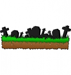 Graveyard cartoon vector