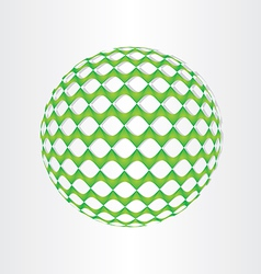 Christmas green decoration ball vector