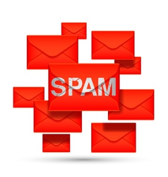 Email spam concept vector