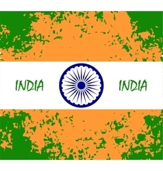 Abstract flag of indiaindian independence day vector
