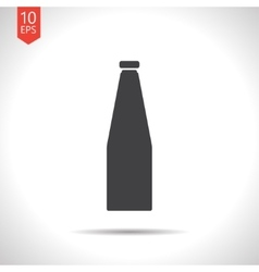 Flat bottle vector