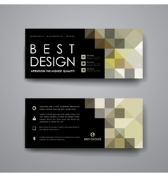 Set of modern design banner template in abstract vector