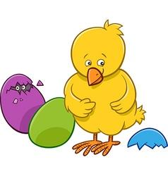 easter chicken cartoon character vector image