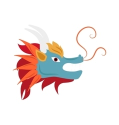 Dragon head mascot mythology chinese monster vector
