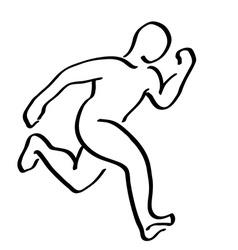 Abstract running man symbol Winner runner logo vector image