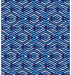 Blue abstract seamless pattern with interweave vector