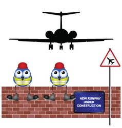 WORKERS NEW RUNWAY vector image