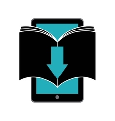Book and smartphone icon audiobooks design vector