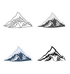 Alps icon in cartoon style isolated on white vector