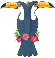 animal alphabet toucan vector image vector image
