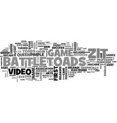 Battletoads zits text word cloud concept vector