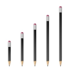 Black wooden sharp pencils vector image vector image