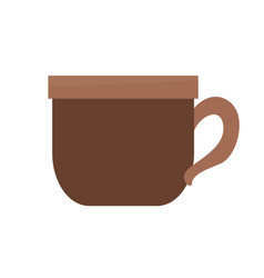 Brown coffee cup beverage delicious vector