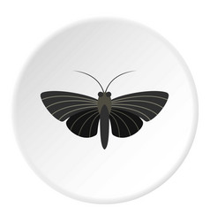 Butterfly with small wings icon circle vector