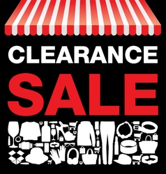 Clearance sale background vector