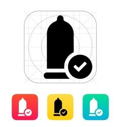 Condom check icon vector