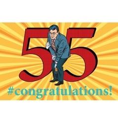 Congratulations 55 anniversary event celebration vector image vector image